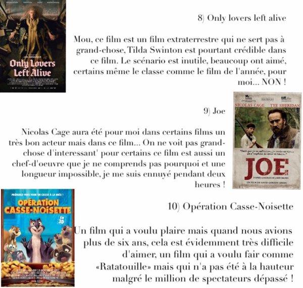 Bilan 2014 : Flop 10 des pires films de 2014