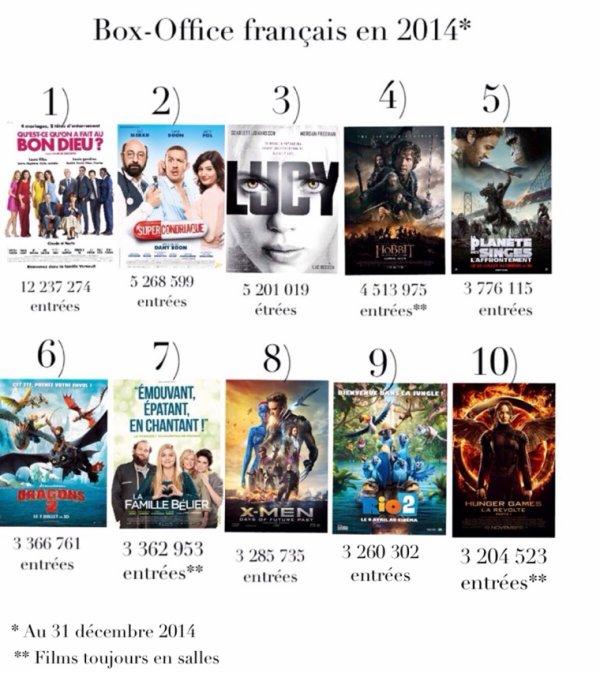 Bilan 2014 : Le Box-Office français en 2014