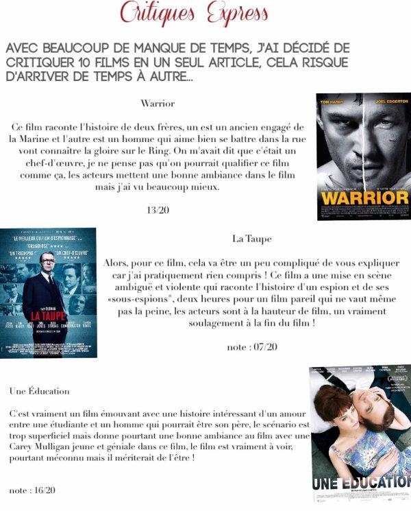 Critiques Express n°1