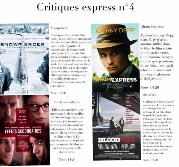 Critiques express numéro 4