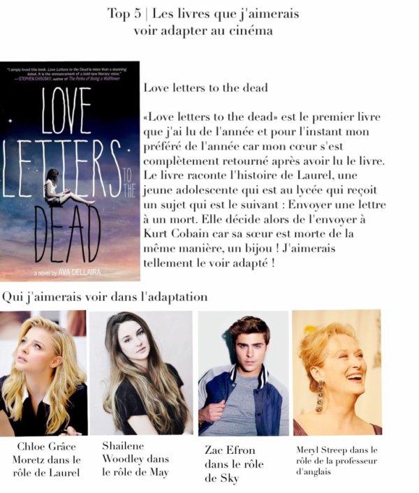Top 5 | Les livres que j'aimerais voir adaptés au cinéma