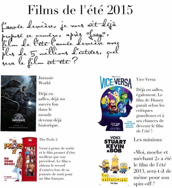 Films de l'été 2015