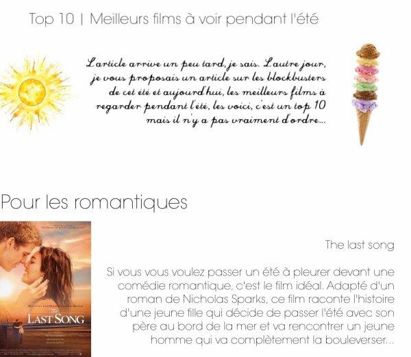 Top 10 | Meilleurs films à voir pendant l'été