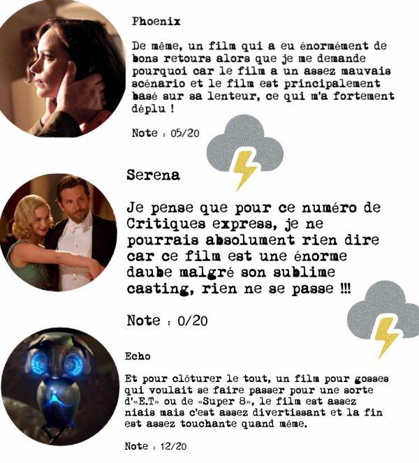 Critiques Express #8
