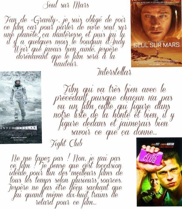 Top 10 | Les films que j'aimerais voir cet automne