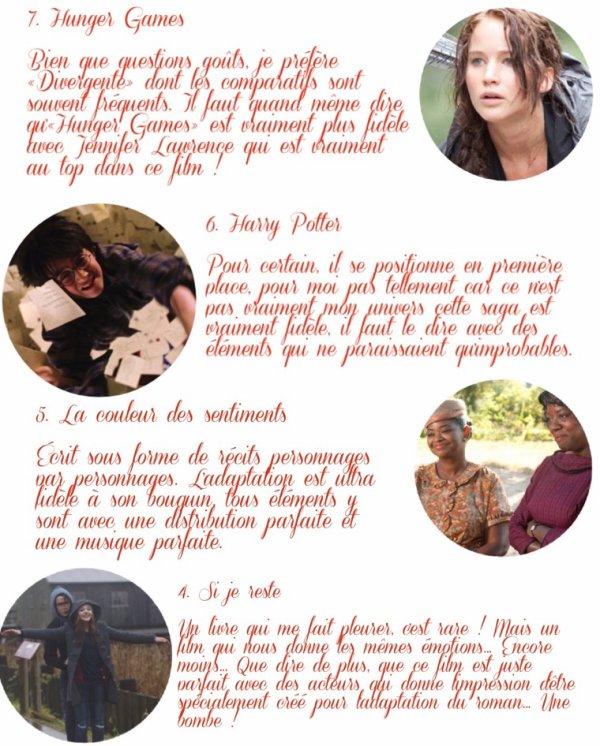Top 10 | Les meilleures adaptations cinématographiques