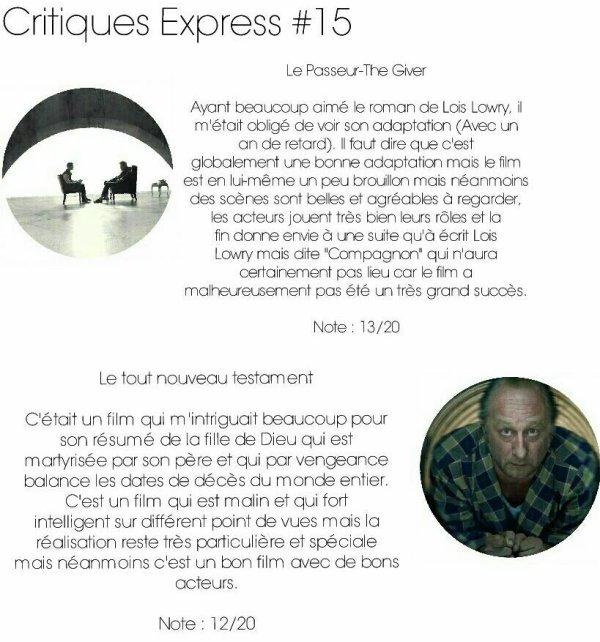 Critiques Express #15
