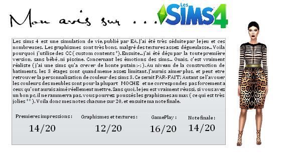 Création de Sims | CC shopping | Game plays | Jeux vidéos | Webmiss Mon avis sur ... : Les sims 4