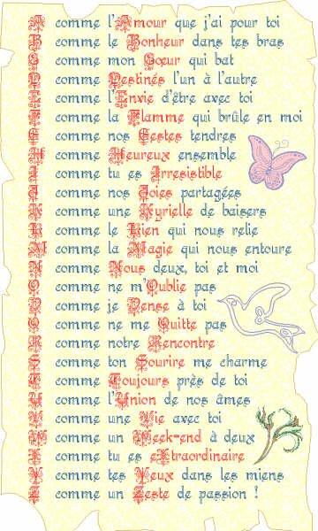 l alphabet de l amour