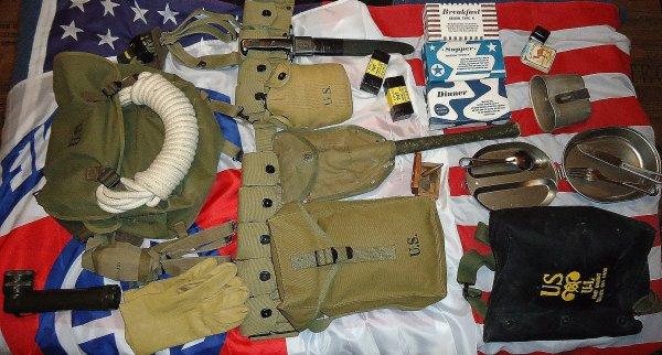 mon équipement US WWII