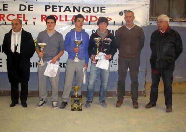 challenge PIERRE DURAND 2013 vainqueurs juniors 2013