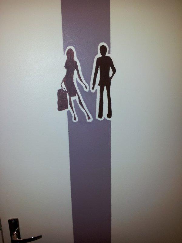 deco porte toilette