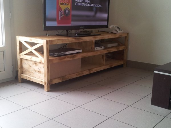 meuble tv home made