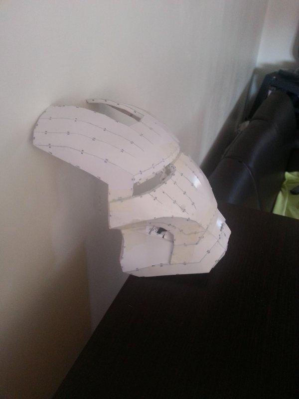 casque iron man echelle 1/1  (papercrafts en cours)
