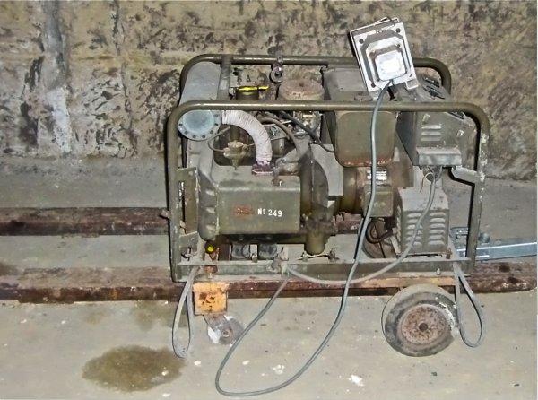 Groupe électrogène militaire