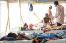 Jacmel – Santé : Les employés du Centre de Traitement de Cholera (CTC), se lavent  les mains par une grève à l'hôpital Saint Michel