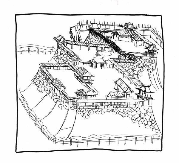 Recherches-graphiques:  paysages et animaux 01