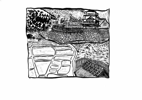 Recherches-graphiques:  paysages et animaux 05