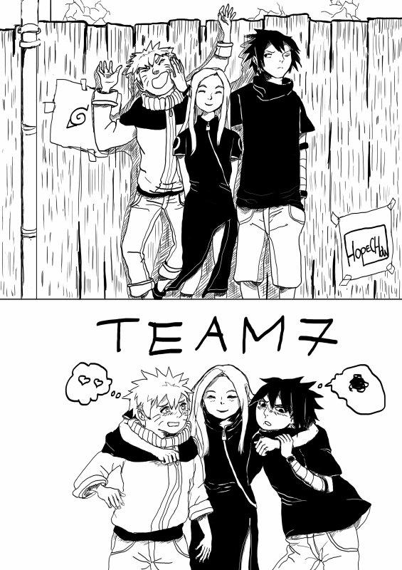 Dessin team 7 !!!! Nostalgie !! XD