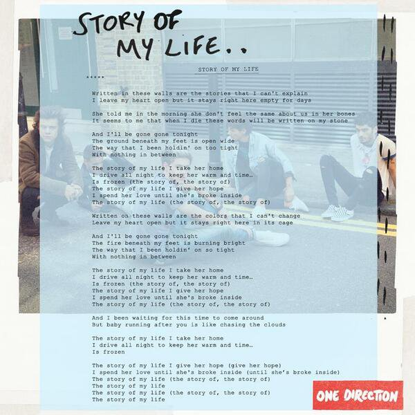 One Direction : Story Of My Life, les paroles dévoilées