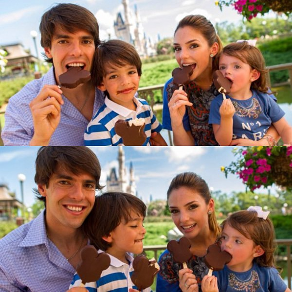 La famille Kaka a Disney Land