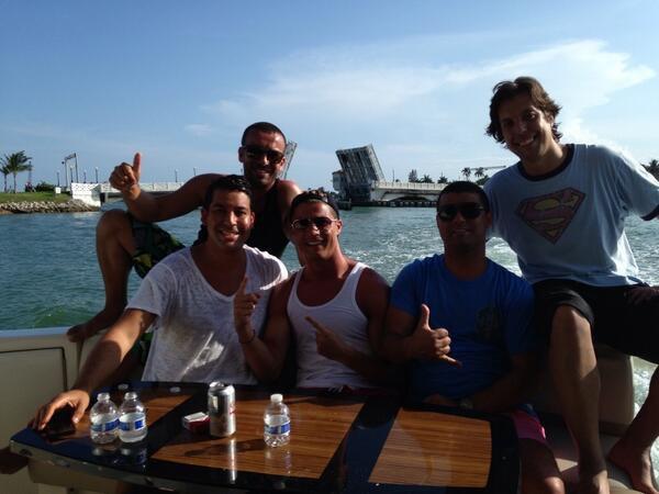 Cristiano Ronaldo en vacances avec des amis