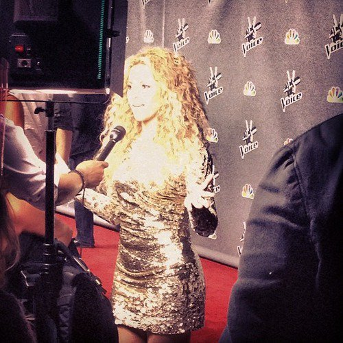 Shakira lors de la soirée de The Voice