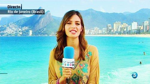 Sara Carbonero pour Telecinco le 19 juin