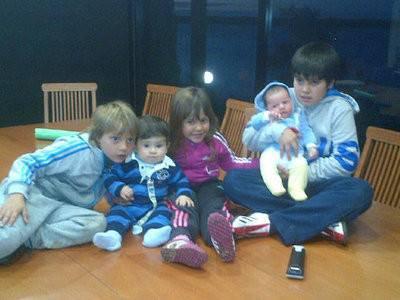 Thiago Messi et ses cousins a Rosario