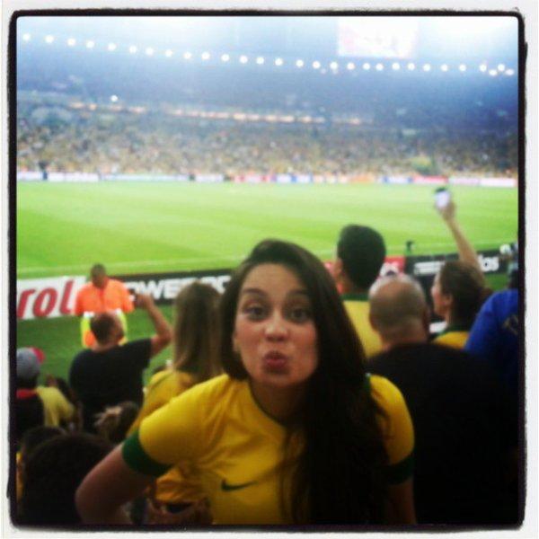 Clarice Alves lors de la finale de la coupe des confédérations