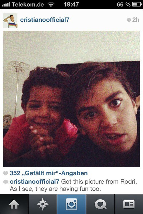 Cristiano Junior et son cousin Rodrigo