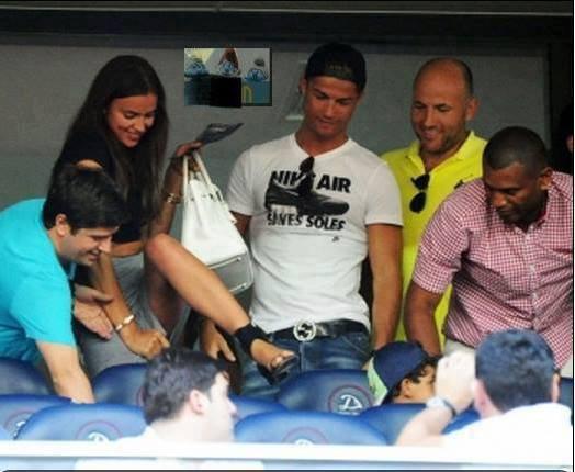 Cristiano Ronaldo, Irina Shayk et Junior le 08 - 07