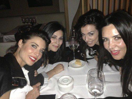 Pilar Rubio et ses amis a l'anniversaire de René Ramos le 08 - 07