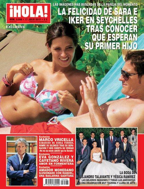 Sara Carbonero sur la couvertures des magazines le 09 - 07
