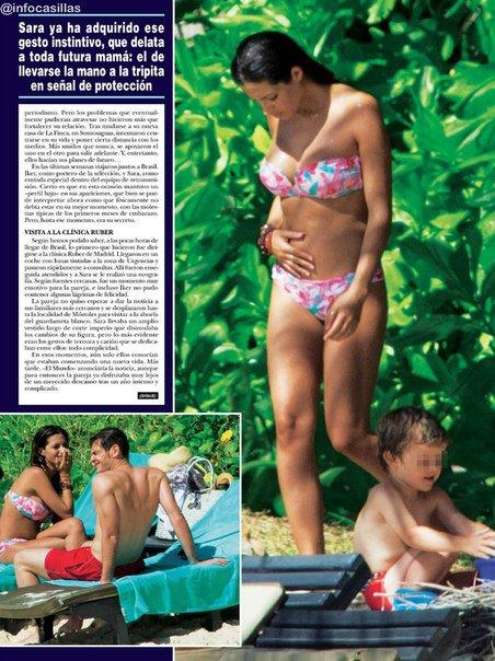 Sara Carbonero dans un magazine