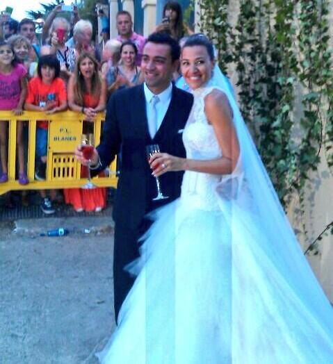 Xavi et Nuria a leurs mariage