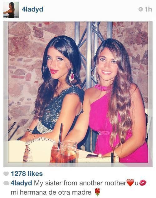 Daniella Semaa et Antonella Roccuzzo Via instagram