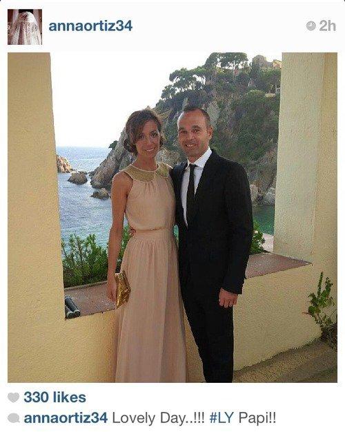 Anna Ortiz et Andres Iniesta Via Anna Instagram