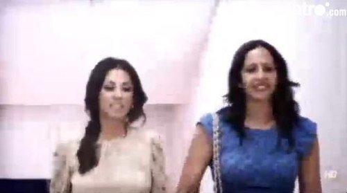 Patricia  Gonzalez Villa lors de la presentation de David Villa a l'atletico Madrid