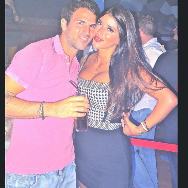 Daniella Semaan et Cesc Fabregas le 29 - 07