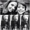 Caroline Celico et son fils Luca le 12 / 08