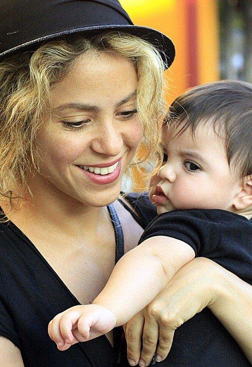 Shakira et Milan le 10 / 08