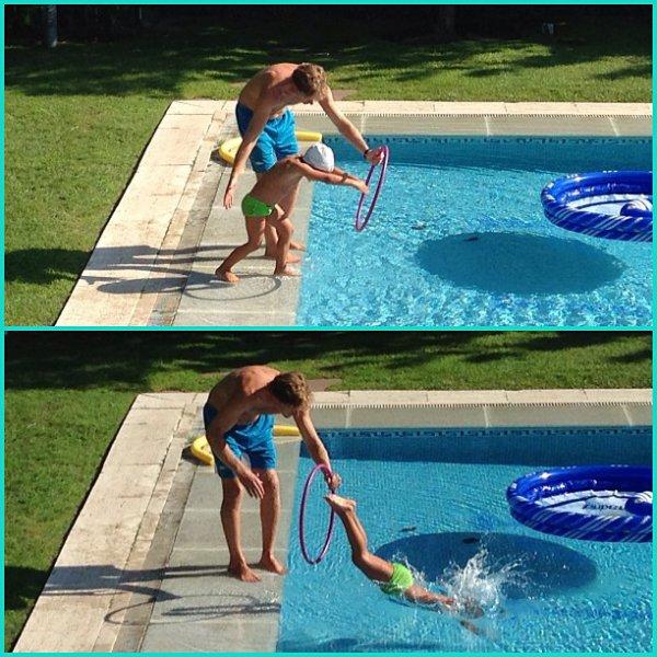Enzo a la piscine le 26 - 08