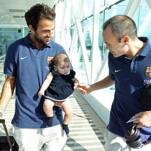 Les fabregas avec le Fc Barcelone en direction de valence le 1 - 09