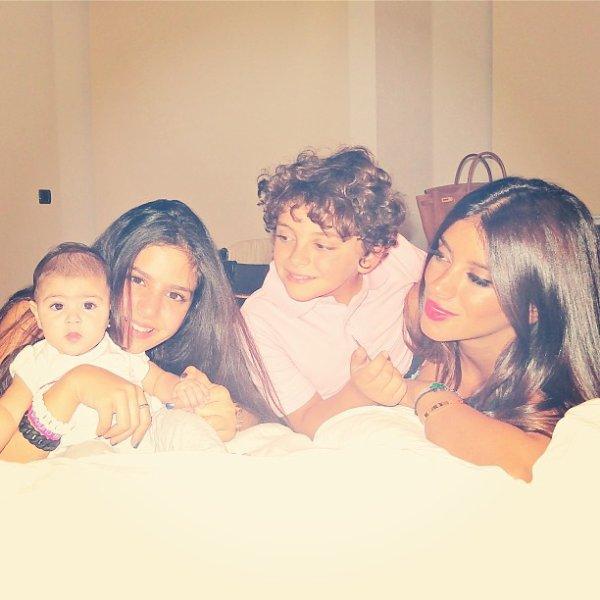 Daniella Semaan et ses enfants, Maria,Lia et Joseph le 06 - 09