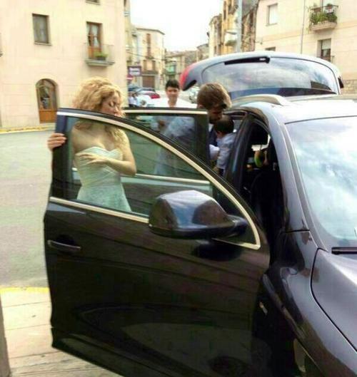 Shakira et gerard Piqué et leurs fils Milan le 08 - 09