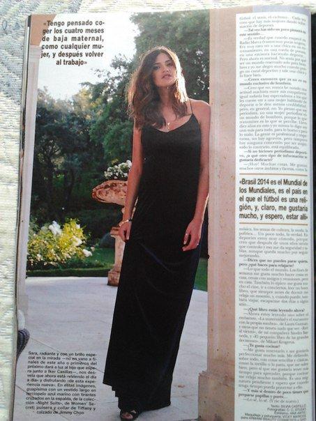 Sara Carbonero pour un magazine le 25 - 09