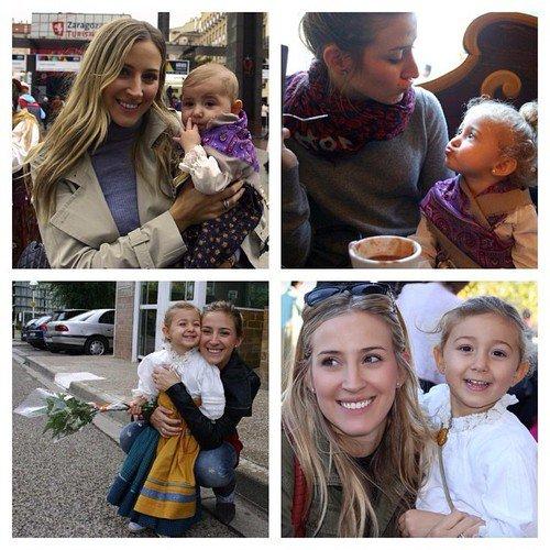 Carlota Ruiz et ses enfants Raul et Alba le 14 - 10