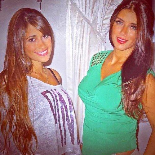 Daniella Semaan et Antonella Roccuzzo le 15 - 10