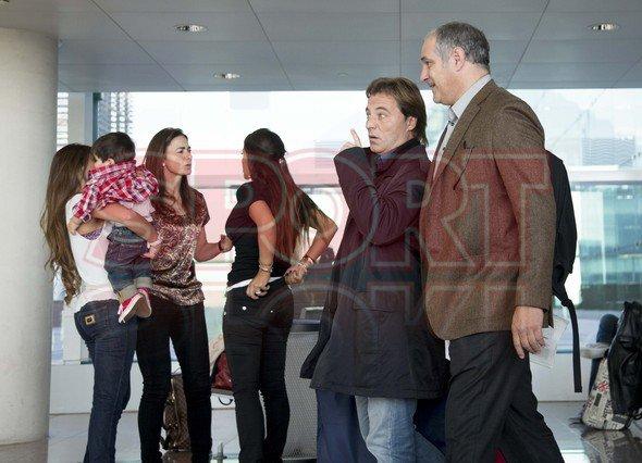 Antonella et Thiago Vol avec Daniella Semaan, Lia et l'équipe à Milan le 21 - 10